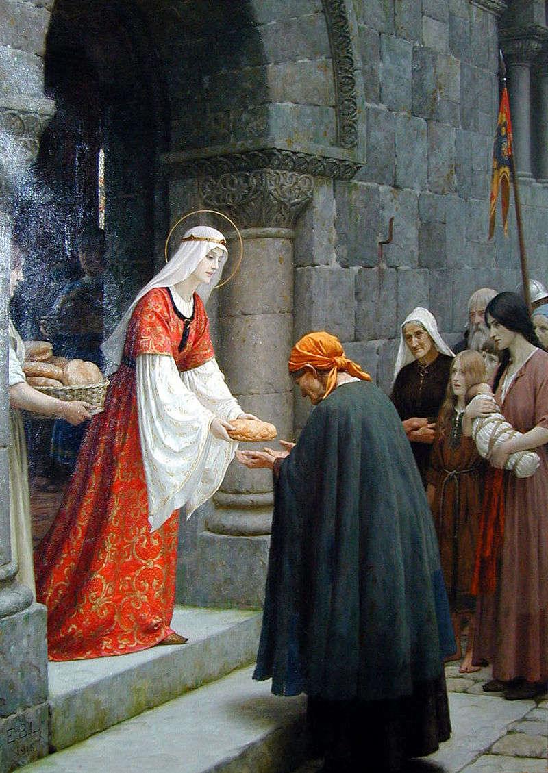 Благотворительнось святой Елизаветы Венгерской. Эдмунд Лейтон . Фото: Википедия